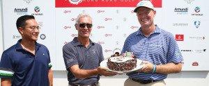 Zum 44. Geburtstag bekam Ernie Els während seiner zweiten Runde Kuchen überreicht. (Foto: Getty Images)