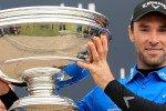 Großer Pokal, große Freude: Der Engländer Oliver Wilson kann die Alfred Dunhill Links Championship für sich entscheiden. Marcel Siem wird geteilter Elfter. (Foto: Getty)
