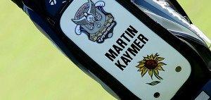 Hinter der Sonnenblume auf Martin Kaymers Golfbag verbirgt sich seine neue Stiftung.