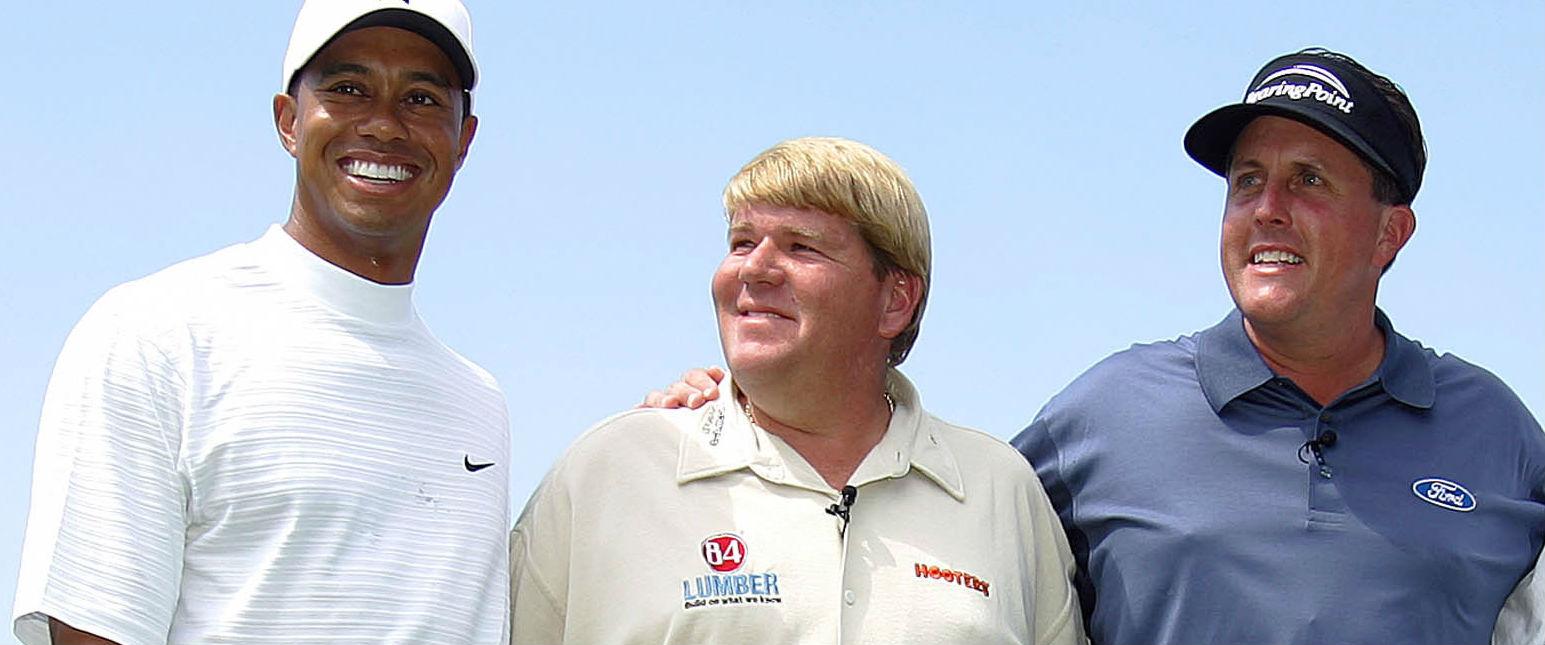 John Daly (m.) fordert Phil Mickelson oder Tiger Woods als spielenden Kapitän für das US-Ryder-Cup-Team 2016. (Foto: Getty)John Daly (m.) fordert Phil Mickelson oder Tiger Woods als spielenden Kapitän für das US-Ryder-Cup-Team 2016.