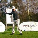 Moritz Klawitter am Abschlag bei der Qualifying School der Pro Golf Tour (Foto: Moritz Klawitter)
