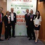 Die STARTPLATZ-Mitglieder Matthias Gräf und Kathrin Ivenz in China (Foto: Golf Post)