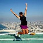 Cheyenne Woods auf dem Dach des Burj al Arab. (Foto: Getty)