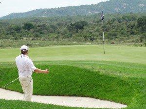 Torben Baumann scheiterte bei der Alfred Dunhill Championship bereits am Cut. Dennoch konnte er eine faszinierende Aussicht auf idyllische Hügel und ein Nilpferd genießen. (Foto: Peter auf der Heyde)