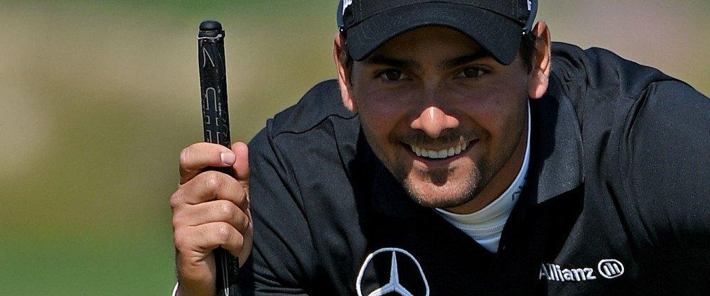 Moritz Lampert spielte am zweiten Tag der Omega Dubai Desert Classic eine starke Runde und machte damit viele Plätze gut.
