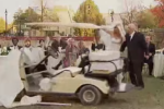 Golfcart und Hochzeitstorte - eine gefährliche Kombination! (Foto: Youtube)