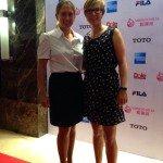 Anka Linder (r.) und Nina Holleder vor der World Ladies Championship.