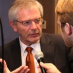 Dr. Hans-Joachim Nothelfer im Gespräch mit Matthias Graef. (Foto: Golf Post)
