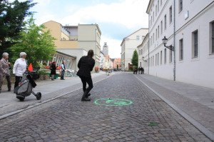 Die Straßen werden zum Fairway (Foto: Sascha Bien)