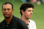 Tiger Woods und Rory McIlroy gehen am Finaltag des Masters 2015  gemeinsam auf die Runde. (Foto: Getty)