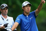 Byeong Hun An und sein Caddie bei der BMW PGA Championship. (Foto: Getty)