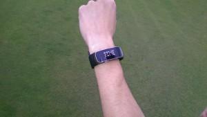 Die Uhrzeit-Anzeige. (Foto: Golf Post)