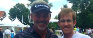 Darren Clarke und Golf-Post-Redakteur Lars Kretzschmar in München. (Foto: Golf Post)