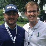 Stephan Jäger (l.) traf sich mit Golf-Post-Redakteur Lars Kretzschmar. (Foto: Golf Post)