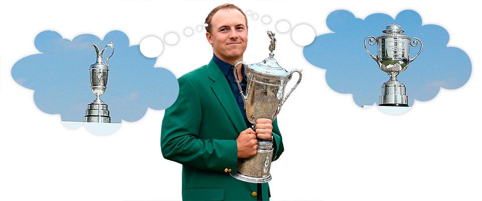 Jordan Spieth hat nach dem Masters- und US-Open-Sieg die Chance als erster Golfer alle vier Majors in einem Jahr zu gewinnen.