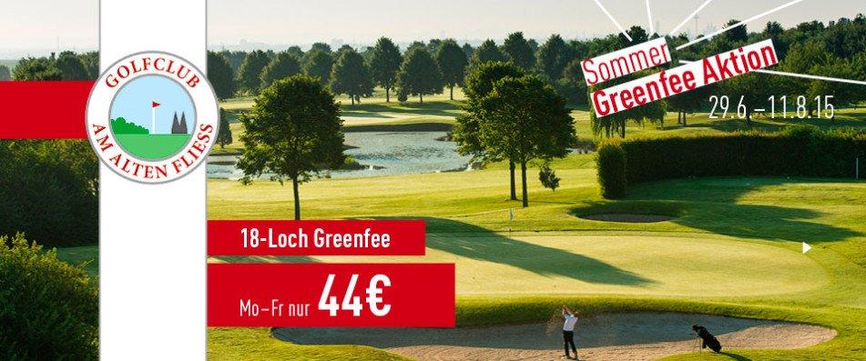 Die Sommer Greenfee Aktion vom Golfclub Am Alten Fliess (Foto: Golf Post)