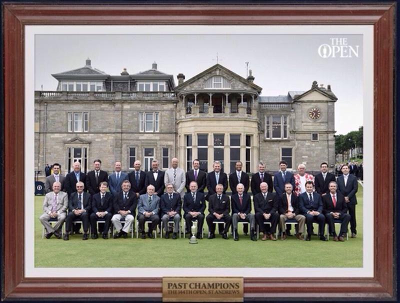 Klassenfoto mit Ex-Siegern der Open Championship.
