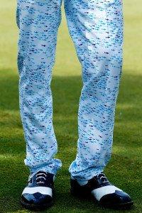 Flippig oder Modesünde? Billy Horschels Hose sorgt für Aufsehen. (Foto: Getty)