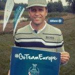 Oliver Bierhoff zeigt seine Unterstützung für den Solheim Cup.