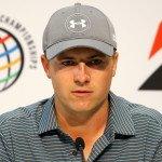 Jordan Spieth bei der Pressekonferenz vor dem WGC-Turnier. (Foto: Getty)