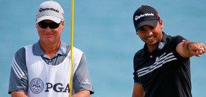 Jason Day (rechts)  ist bei der PGA Championship auf dem besten Weg zu seinem ersten Majortitel. (Foto: Getty)