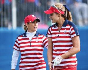 Lexi Thompson (rechts) und Christie Kerr legen bei den Fourballs gut vor. (Foto: Getty)