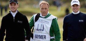 Martin Kaymer (li.), Horst Kaymer, Martins Vater (Mitte) und Bruder Philipp Kaymer zusammen beider Alfred Dunhill Links Championship in St. Andrews. (Foto: Getty)