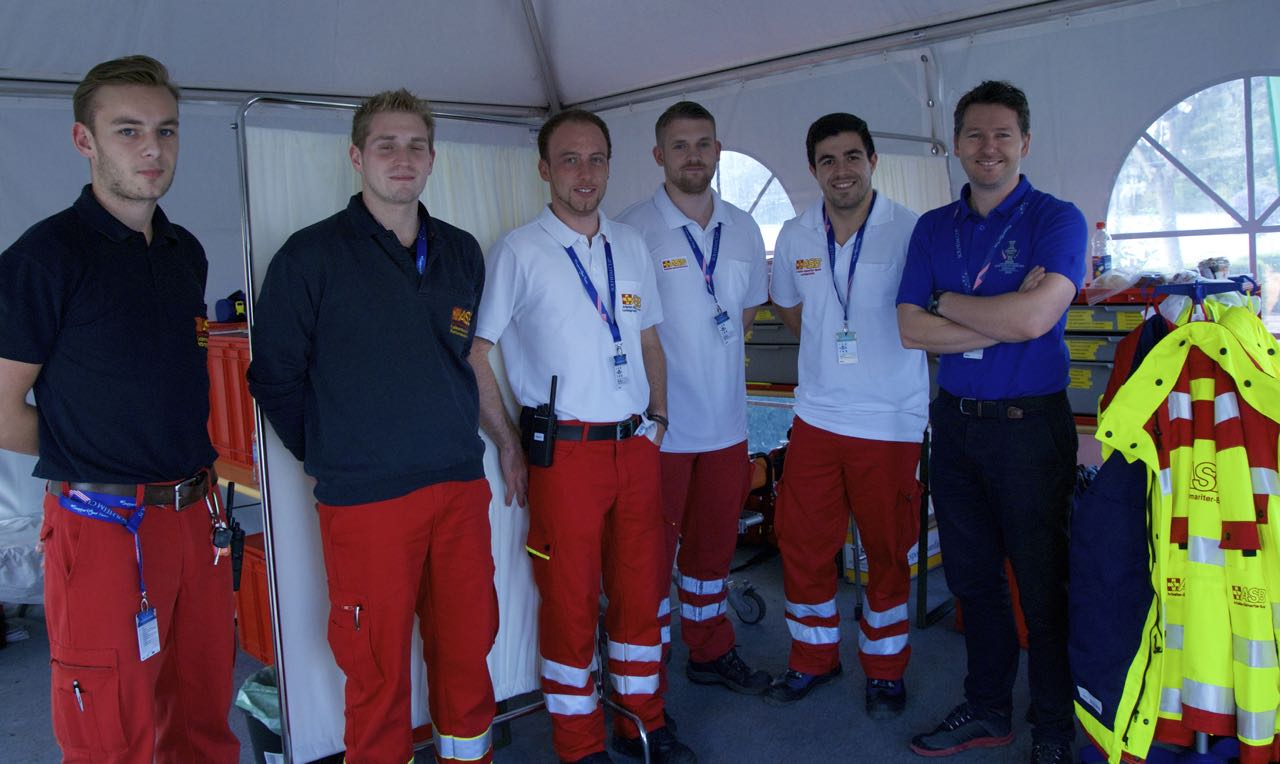 Das Sanitäter-Team rund um Dr. Christopher Weller beim Solheim Cup 2015. (Foto: Golf Post)