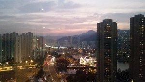 Schöne Aussicht: Bernd Ritthammers Blick aus seinem Hotelzimmer in Hong Kong. (Foto: B. Ritthamm