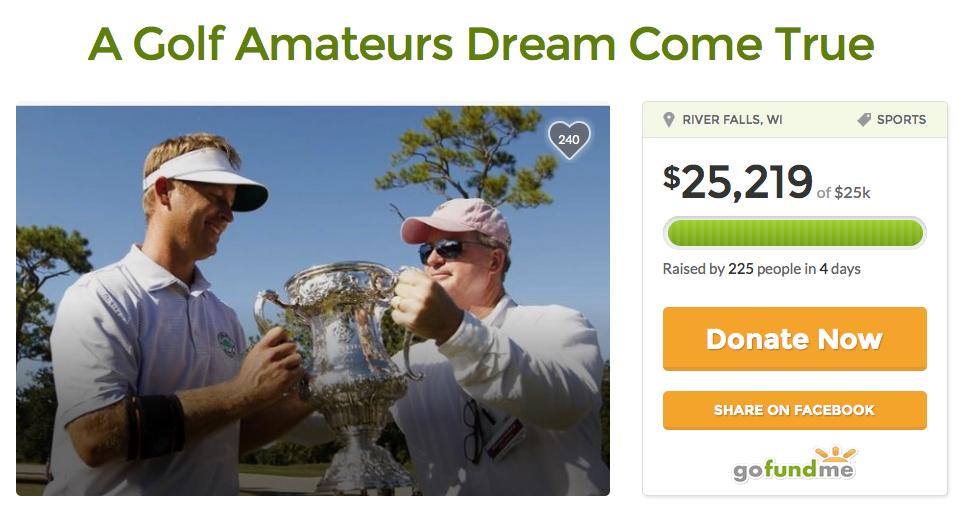 Sammy Schmitz sammelte bei GoFundMe Geld für seine Teilnahme am Masters.