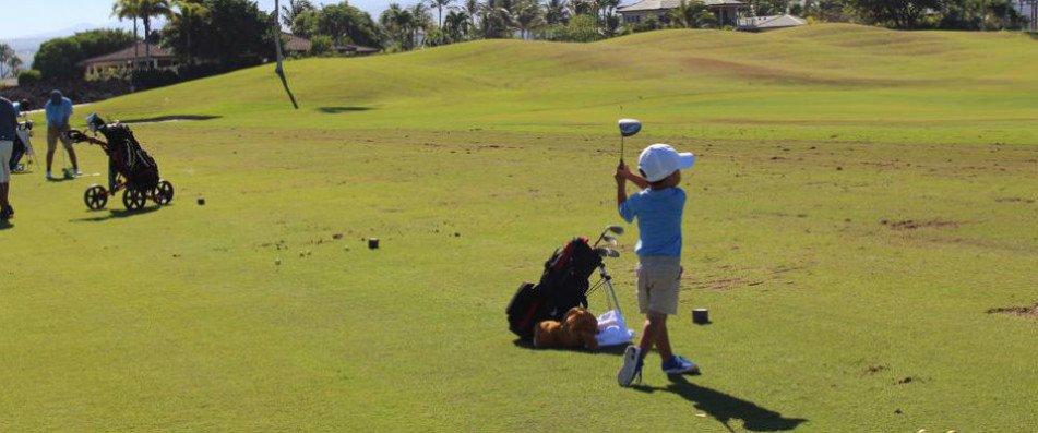 Blake Nakagawa Vierjähriger Golfspieler