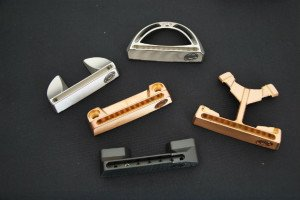 Die fünf Modelle von Caledonia Putters.