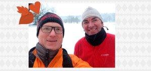 """Auf diesem Bild zu sehen Jens-Jürgen H. mit seinem Freund Peter. Von den beiden stammt das schönste Golferlebnis 2015 """"Golfen im Schnee"""". (Foto: Jens-Jürgen H.)"""
