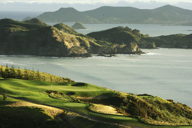 Der Kauri Cliffs Golfplatz am Mautauri Bay. (Foto: Getty)