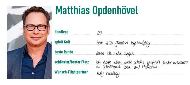 Auch Matthias Opdenhövel schwingt gerne mal den Golfschläger. (Foto: Golf Post)
