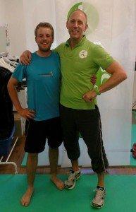 Moritz Klawitter mit seinem neuen Trainer Mathias Haide aus Wuppertal. (Foto: M. Klawitter)