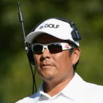 Notah Begay bei der Arbeit für den Golf Channel. (Foto: Getty)