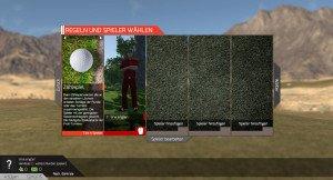 Spaß mit Freunden: Bis zu vier Spieler können gemeinsam golfen. (Foto: Screenshot)