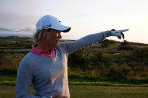 Suzann Pettersen auf dem Lofoten Golf Links. (Foto: Kevin Murray)