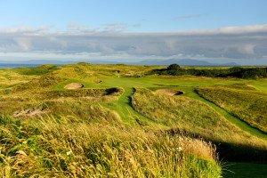 Golfen auf einer Briefmarke: Das achte Loch auf dem Royal Troon Goolfplatz in Großbrittanien. (Foto: getty)