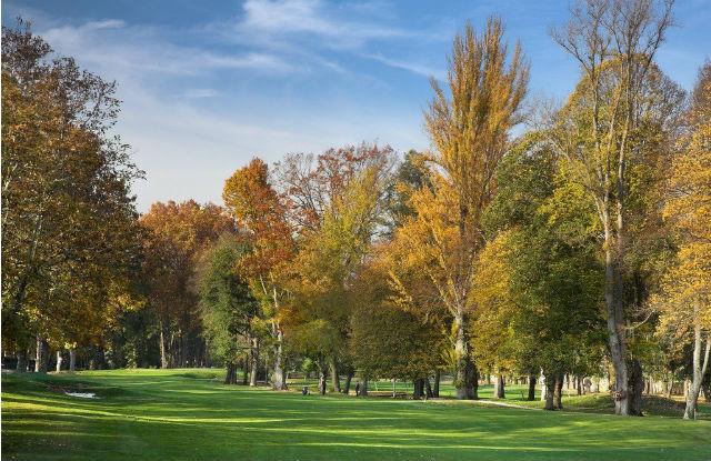"Der Golfplatz des Vidago Palace Hotels: ""Indian Summer"" im Schlosspark. (Foto: Vidago Palace)"