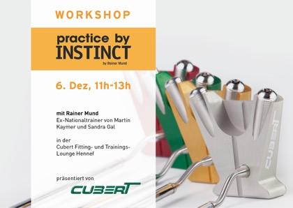 Am 6. Dezember findet von 11:00-13:00 Uhr ein Putt-Workshop in der neuen Cubert Trainingslounge statt (Foto: Cubert)