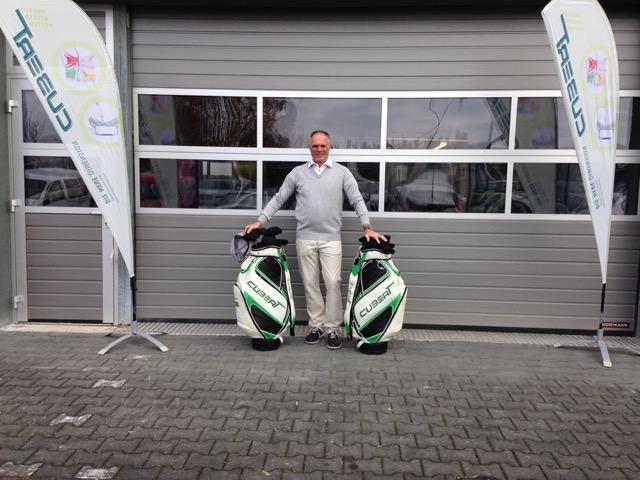 Kurt Schönwald vor seiner neuen Cubert Fitting- und Trainingslounge (Foto: Cubert)