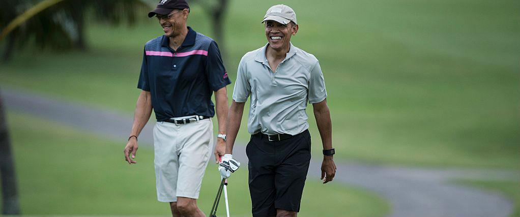 Barack Obama spielt gern Golf auf Hawaii. (Foto: Getty)