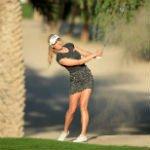 Paige Spiranac auf Abwegen bei ihrem LET Tour-Debüt in Dubai. (Foto: Getty)