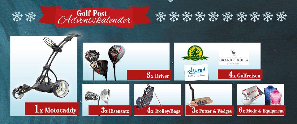 Jetzt mitmachen beim Golf Post Adventskalender. (Bild: Golf Post)