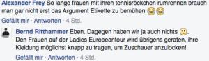 Kommentar von Bernd Ritthammer. (Foto: Facebook: Bernd Ritthammer)