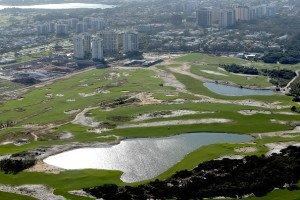 Risiko: stehende Gewässer auf dem Olympischen Golfkurs in Rio. (Foto: Getty)
