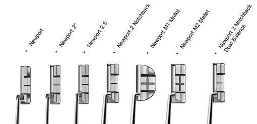 Die sieben neuen Modelle der Select-Linie von Scotty Cameron. (Foto: Scotty Cameron)