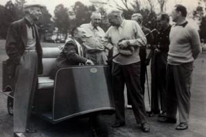 Enge Beziehungen bis hin ins Weiße Haus: Dwight D. Eisenhower (Mitte) war häufig zu Gast in Augusta. (Foto: Michael F. Basche)